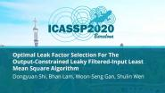 Optimal Leak Factor Selection For The Output-Constrained Leaky Filtered-Input Least Mean Square Algorithm