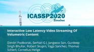 Interactive Low Latency Video Streaming Of Volumetric Content