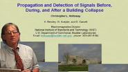 Propagation and Detection of Signals Before, During, and After a Building Collapse Video
