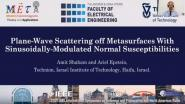 Plane-Wave Scattering Off Metasurfaces with Sinusoidally-Modulated Normal Susceptibilities Video
