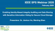 Enabling Identity-Based Integrity Auditing and Data Sharing With Sensitive Information Hiding for Secure Cloud Storage