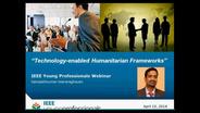 Technology in Humanitarian Frameworks Webinar