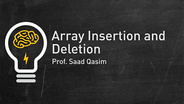 Array Insertion and Deletion