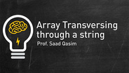 Array Transversing through strings