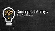 Concept of Arrays