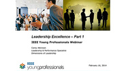 IEEE Young Professionals Leadership Excellence Webinar