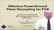 Effective Power/ Ground Plane Decoupling for PCB