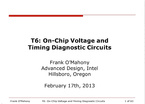 ON-CHIP VOLTAGE AND TIMING DIAGNOSTIC CIRCUITS