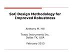 SOC DESIGN METHODOLOGY FOR IMPROVED ROBUSTNESS