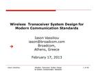 WIRELESS TRANSCEIVER SYSTEM DESIGN FOR MODERN COMMUNICATION STANDARDS