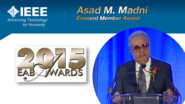 HKN Member Asad M. Madni Receives Award at 2015 EAB Awards Ceremony