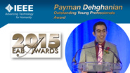 HKN Member Payman Dehghanian Receives Award at 2015 EAB Awards Ceremony