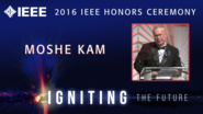 Moshe Kam accepts the IEEE Haraden Pratt Award - Honors Ceremony 2016