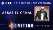 Abbas El Gamal accepts the IEEE Richard W. Hamming Medal - Honors Ceremony 2016