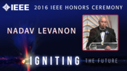 Nadav Levanon receives the IEEE Dennis J. Picard Medal for Radar Technologies and Applications - Honors Ceremony 2016