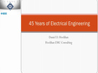 45 Years of Electrical Engineering - Daniel D. Hoolihan (2015-HKN-SLC)