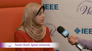 Tazeen Sharif from Ajman University at WIE ILC 2016
