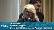 Final Remarks From Marina Ruggieri - Global Connect Stakeholders: Advancing Solutions