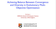 Achieving Balance Between Convergence and Diversity in Evolutionary Multi-Objective Optimization - Ke Li