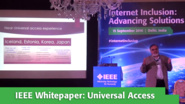 IEEE Whitepaper Presented by Prasad Mantri at Internet Inclusion: Advancing Solutions, Delhi, 2016