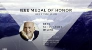 Kees Schouhamer Immink accepts the IEEE Medal of Honor - Honors Ceremony 2017