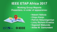 Working Group Reports - ETAP Forum Namibia, Africa 2017