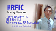 A 4mW-RX 7mW-TX IEEE 802.11ah Fully-Integrated RF Transceiver: RFIC Industry Showcase 2017