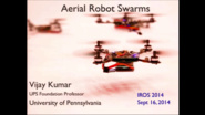 Aerial Robot Swarms