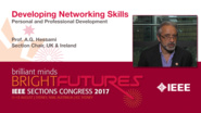 A.G. Hessami: Developing Networking Skills - Studio Tech Talks: Sections Congress 2017
