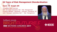 26 Years of Risk Management Standardisation - Kevin Knight - Closing Ceremony: Sections Congress 2017