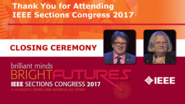 Final Remarks - Vaughan Clarkson and Mary Ellen Randall - Closing Ceremony: Sections Congress 2017
