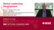 Barry Shoop: Global Leadership Development - Studio Tech Talks: Sections Congress 2017