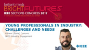 Young Professionals in Industry: Challenges and Needs - panel discussion at Sections Congress 2017