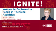 Women In Engineering Focus on Technical Activities - Christina Schober - Sections Congress 2017