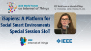 Virginia Pilloni: iSapiens: A Platform for Social and Pervasive Smart Environments - Special Session on SIoT: WF-IoT 2016