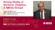 Habib Kammoun: Driving Vitality of Sections, Chapter and Affinity Groups - Studio Tech Talks: Sections Congress 2017