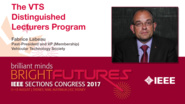 Fabrice Labeau: The VTS Distinguished Lecturers Program — Studio Tech Talks: Sections Congress 2017