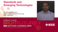 Sri Chandrasekaren: Standards and Emerging Technologies - Studio Tech Talks: Sections Congress 2017
