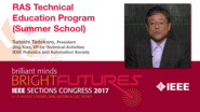 Satoshi Tadokoro: RAS Technical Education Program (Summer School) - Studio Tech Talks: Sections Congress 2017