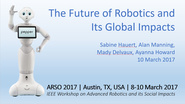 The Future of Robotics and its Global Impacts