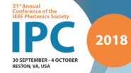 IEEE Photonics Conference 2018 - Save the Date!