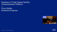Raspberry Pi High Speed SerDes Characterization Platform