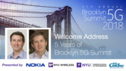 Welcome Address: 5 Years of Brooklyn 5G Summit - Ted Rappaport and Marcus Weldon - Brooklyn 5G Summit 2018