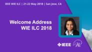 Welcome Address - Nita Patel - WIE ILC 2018