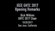 Opening Remarks from the Global Humanitarian Technology Conference, GHTC 2017