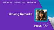 Closing Remarks - Kathy Herring-Hayashi - WIE ILC 2018