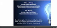 Coordination of NFPA and IEEE Consensus Document Development