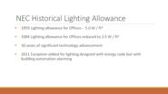 National Electrical Code Section 220.12 - Lighting Design Safety and Sustainability Concepts