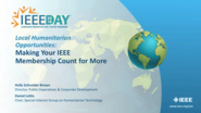 Local Humanitarian Opportunities: Making Your IEEE Membership Count for More