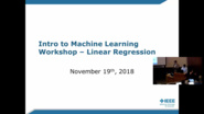 Linear Regression: Intro to Machine Learning Workshop - IEEE Region 4 Presentation